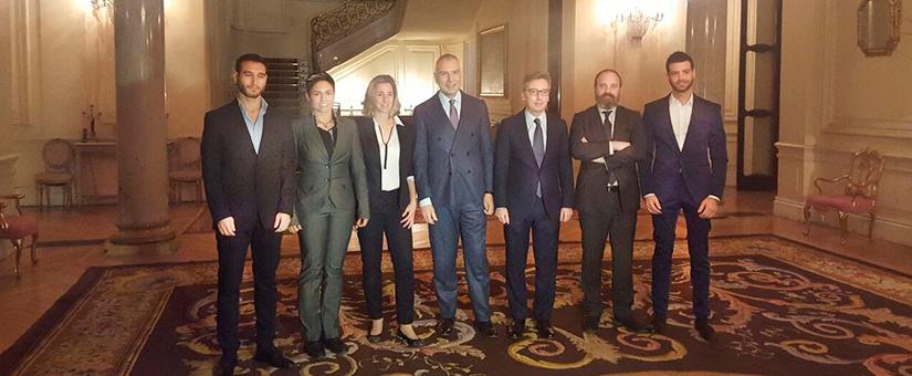 Visita de AACDO (Asociación de Abogados y Abogadas contra los Delitos de Odio) a la embajada de Italia